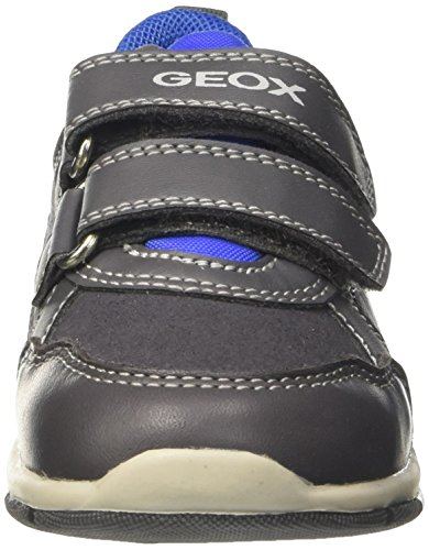 Geox B SHAAX A - zapatillas de running de material sintético Bebé-Niñas Gris (Grey/royal)