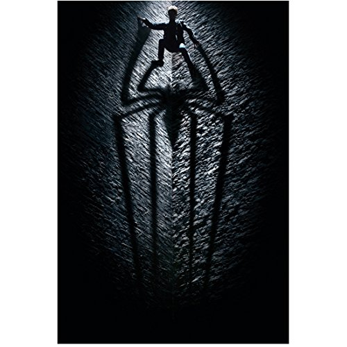 Andrew Garfield 8 inch x10 inch PHOTOGRAPH The Amazing Spider-Man (2012) Climbing Grey Wall Casting Shadow of Spider kn