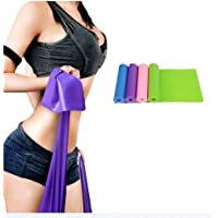 5 Pack Resistance Exercise Band Set-1.5m*15 cm Elastic Flat Resistance Bands-Heavy Strength Fitness Bands for Pilates-Gym/Physical Therapy/Yoga/Green & Yellow & Pink & Purple & Blue