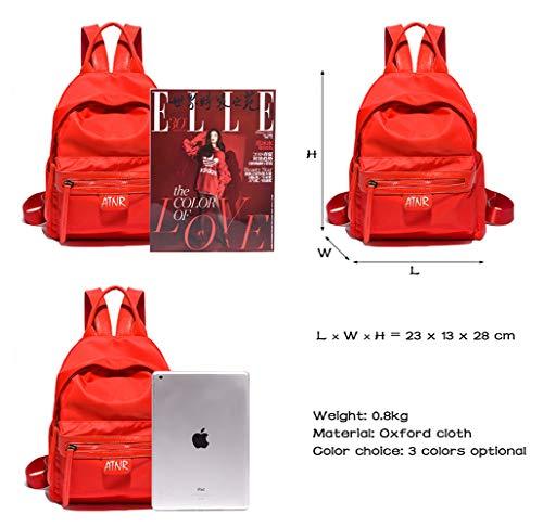 Portatile Escursioni Per Zaino Vintage Tela rosa Scuola Rosso In Computer Trekking 4 8CXpxwaq
