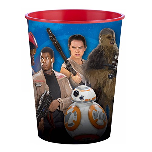 Force 16 Ounce Cup - 16oz Star War The Force Awakens Birthday Party Plastic Loot Treat Favor Keepsake cups (4)