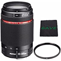 Pentax HD Pentax-DA 55-300mm f/4-5.8 ED WR Lens + UV Filter + MicroFiber Cloth 6AVE Bundle