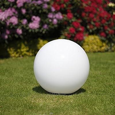 Lampe sphérique 50 cm Ø blanc de jardin,éclairage d'extérieur,beau déco pour intérieur & extérieur,Eclairage boule jardin àéconomie d'énergie E27 &