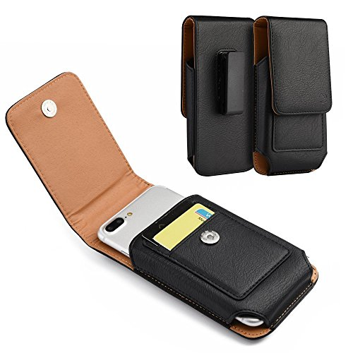For Samsung Galaxy S8 Plus , Galaxy S7 Edge Plus,Galaxy Note Edge, NOTE 5, NOTE 4 , NOTE 3 , NOTE 2 ~ Heavy Duty Leather Vertical / Horizontal Case Cover With Belt Clip Holster - Black2