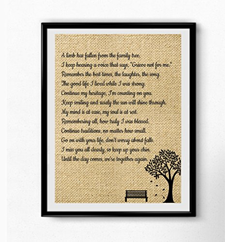 Christmas In Heaven Poem Svg.A Limb Has Fallen From Our Family Tree Wall Art Sympathy Gift Family Loving Memorial Gift