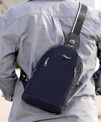 FiveloveTwo hombro hombre Azul Oscuro para al Bolso 77UrZF