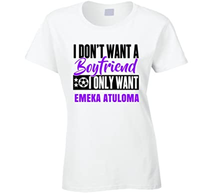 d919de8a481 Amazon.com: Emeka Atuloma Dont Want a Boyfiend I Only Want Nigeria World  Cup 2018 Soccer Fan T Shirt: Clothing