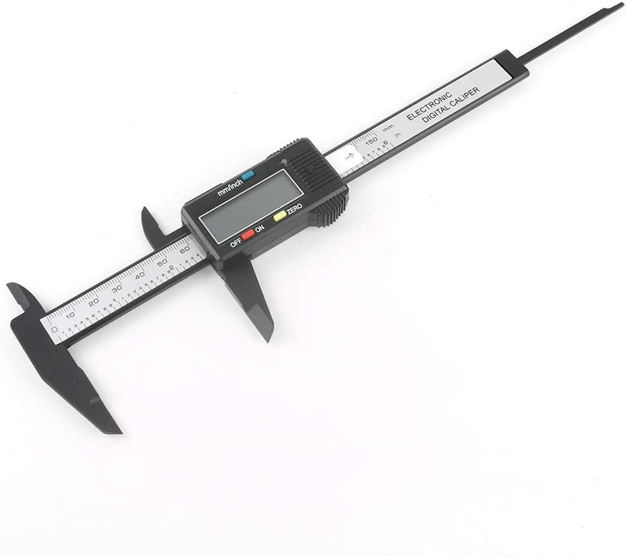 teng hong hui Digital Caliper de pl/ástico Dispositivos de medici/ón Digital Pie de Rey
