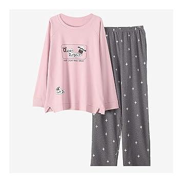 3feeee424b HAOLIEQUAN Ropa De Hogar Mujer Pijamas 2 Unidades Otoño Invierno Talla  Grande Conjunto De Pijama Mujer Ropa De Dormir Kawaii Traje De Noche Ropa  De Dormir  ...