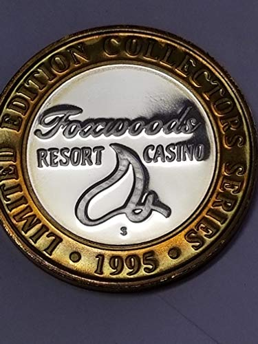 1995 FOXWOODS RESORT CASINO LMT. EDITION PROOF GAMING TOKEN-.999 PURE SILVER-COLONIAL COLLECTORS EDITION-VERN'S CARD & COIN $10 Pf