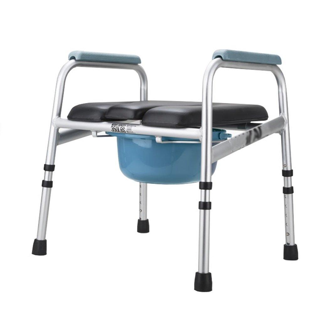 折りたたみ式トイレ椅子とトイレ椅子のバスルームアルミニウム合金のスリップ調節可能な高さバスルームシャワースツール高齢者/妊婦/身体障害者トイレチェアMax.350kg B07DHHF8RM