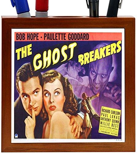 Rikki Knight Vintage Movie Posters Art Ghost Breakers 2 Design 5-Inch Wooden Tile Pen Holder (RK-PH3710)