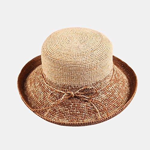 uv Bota Mujer Shopping niñas Wide Hat Floppy Cúpula Anti Color Suave Sun Plegable Para Visera Brim Transpirable Casual Y Zml De camel Ajustable Summer Straw Damas 6tqdnYAdFw