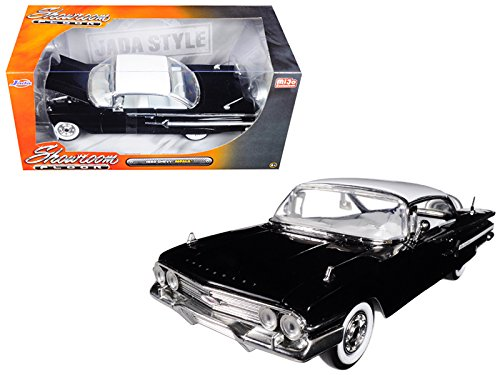 1960 Chevrolet Impala Black Showroom Floor 1/24 Model Car by Jada (Floor Ground Showroom)