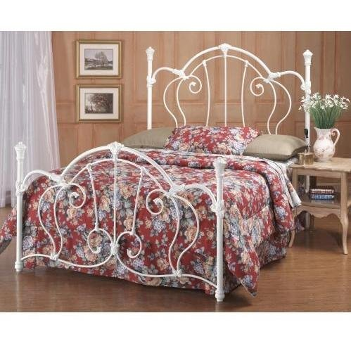 - Hillsdale Furniture 381BK Cherie Bed Set, King, Ivory