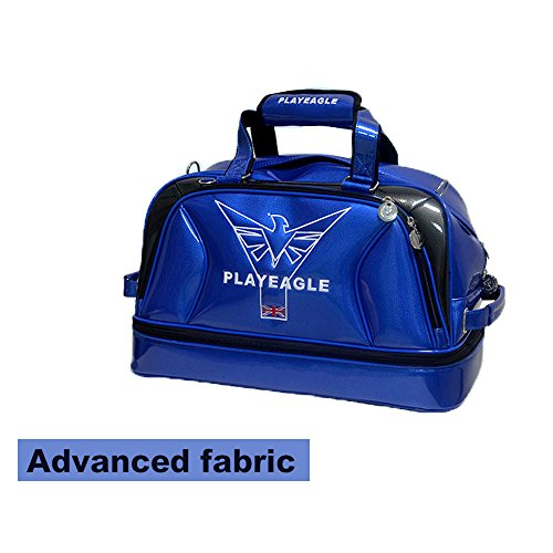 PLAYEAGLE New Arrival Double-layer Men's Golf Duffel Bag PU Smooth Golf Bag for Travel Women Waterproof Boston Bag with Shoe Pocket by PLAYEAGLE (Image #5)