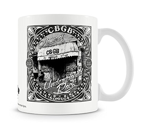 Cbgb And Omfug Mug Home Of Underground Rock Logo Official White Boxed
