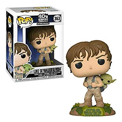 Luke Skywalker Training with Yoda #363 Movies The Empire Strikes Back 40th Anniversary Vinyl Figure (Includes Compatible Protector Case): Toys & Games