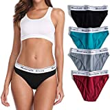 moonlight elves 4-Pack Women's Cotton Underwear Hipsters Panties-Briefs Panty(M)