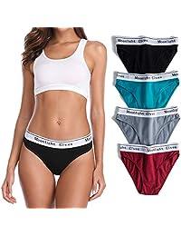 moonlight elves 4-Pack Women's Cotton Underwear Hipsters Panties-Bikini Panty Briefs