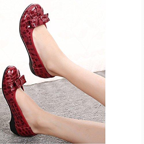C des dans Taille 5 ZHANGRONG Pompes EU41 Pliables Couleurs Chaussures Dames 8 CN42 des Les UK7 plient diverses retroussent Couleur B zxqCz