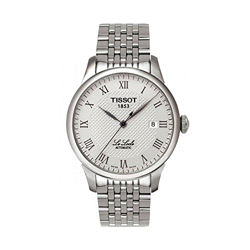 tissot-mens-t41148333-le-locle-silver-tone-watch-with-textured-dial-and-link-bracelet