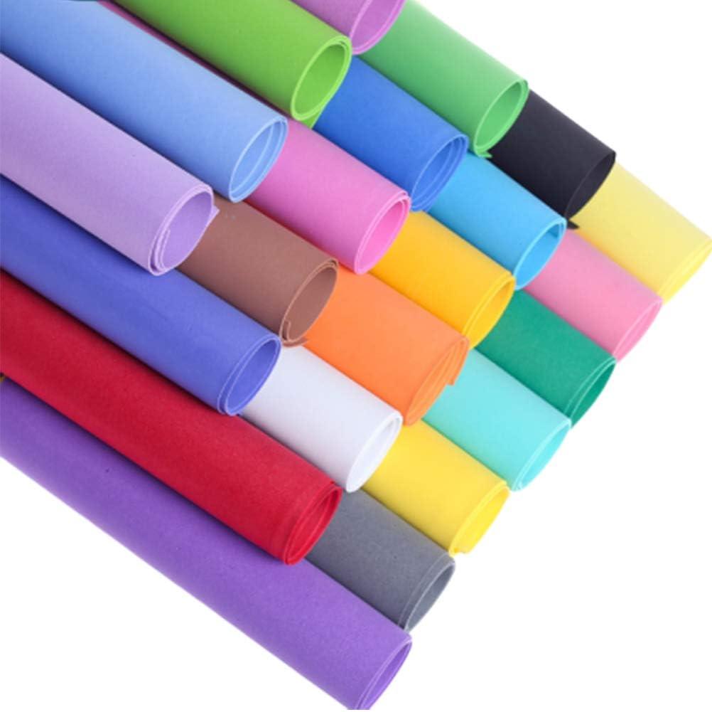 STOBOK 10 láminas de espuma EVA de 1 mm de grosor hechas a mano, materiales artesanales, papel de rizo, carteles, pósteres, fondo de cartón de regalo (colores surtidos/50 x 50 cm)
