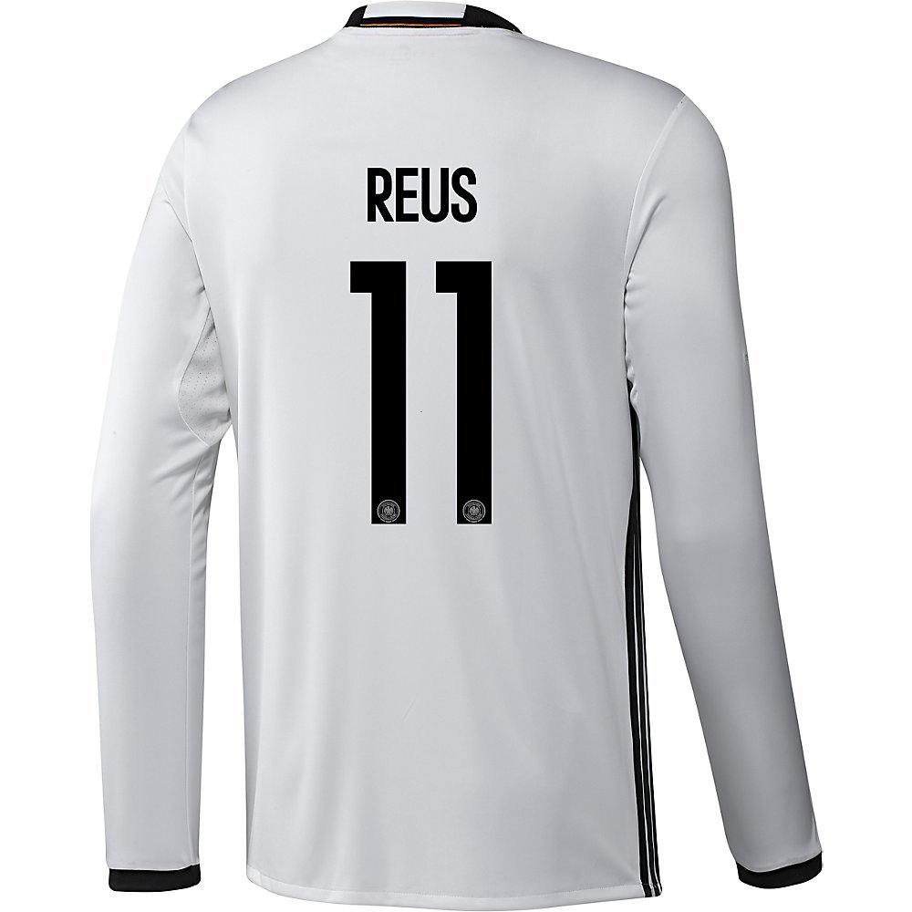 Adidas REUS #11 Germany Home Soccer Jersey Euro 2016 - Long Sleeve (Authentic name and number of player)/サッカーユニフォーム ドイツ 長袖 ホーム用 ロイス 背番号11 Euro 2016 B01B3QM0BQ Large