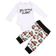 Cute Newborn Infant Baby Boy Girl Clothes Romper Tops +Long Pants Outfit 2Pcs Set