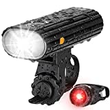 Te-Rich Bicycle Lights, 800 Lumens Bike Light Front Rechargeable & LED Rear Bike Light, Super Bright Cycling Headlight and Taillight Set, Safety Accessories for Kids/Women/Men, Fit Road/MTB Bikes