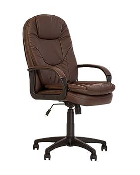 meilleur service 92023 6035c Bonn- Fauteuil DE Direction SYNCHRONE. Chaise DE Bureau Ergonomique  PIVOTANTE, BASCULANTE .Multi-Position. ECO Cuir. (Marron)