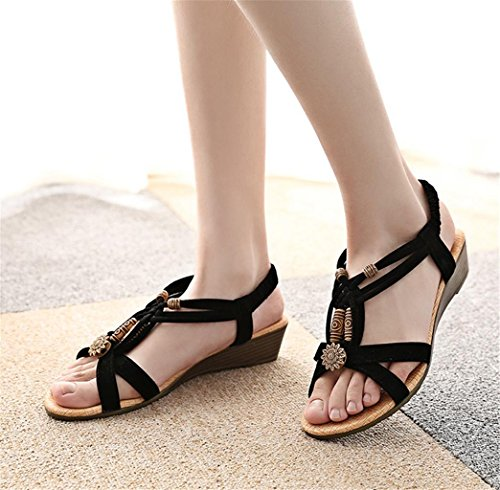 Wedge Sandals 39 Ankle MNII Flat Platform Strap Women With summer Fashion Summer Shoes AxtwqHt1U