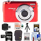 Polaroid iEX29 18MP 10x Digital Camera (Red) with 32GB Card + Case + Tripod + Kit