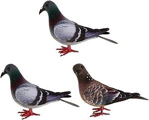 MNTT Foam Mini Artificial Birds Home Decoration Garden Ornaments Simulation Wedding Artificial Imitation Animal Fake Pigeon.