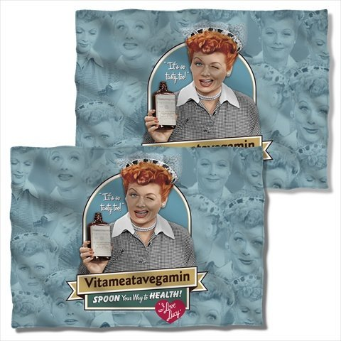 I Love Lucy Vitameatavegamin (FRONT BACK PRINT) Sublimation Pillow Case