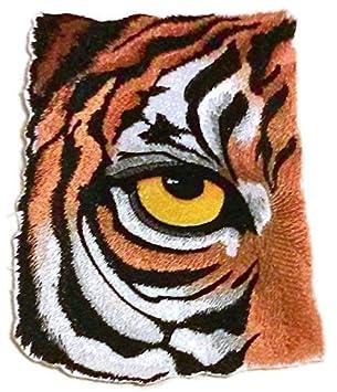 Beyondvision Personalizada Y El Ojo Único De Tigre Bordado Parches De Costura De Hierro De 7 X 4,72 Gris, Negro, Blanco, La Roya: Amazon.es: Hogar