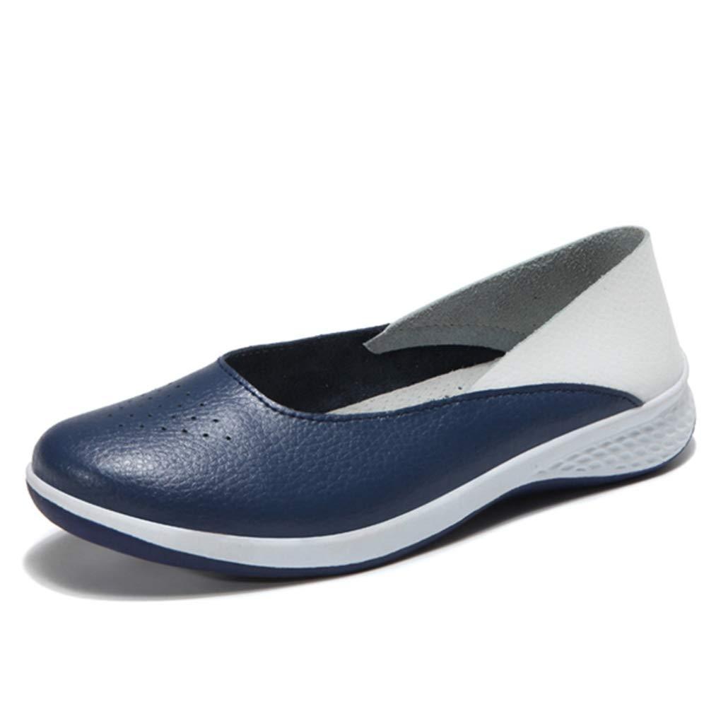Mocasines De Mujer Mocasines Zapatillas De Ballet De Cuero Casual Comfort Slip On Walking Office Work Sport Boat Shoes para Damas