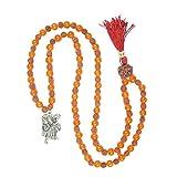 Shakti Yoga Necklace Hanuman Rudraksha Carnelian Mala Spiritual Yoga Meditation Beads