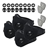 Tools & Hardware : Activated Carbon Dustproof Dust Mask - with Extra Filter Cotton Sheet and Valves for Exhaust Gas, Anti Pollen Allergy, PM2.5, Running, Cycling, Outdoor Activities (4 pack, Black)
