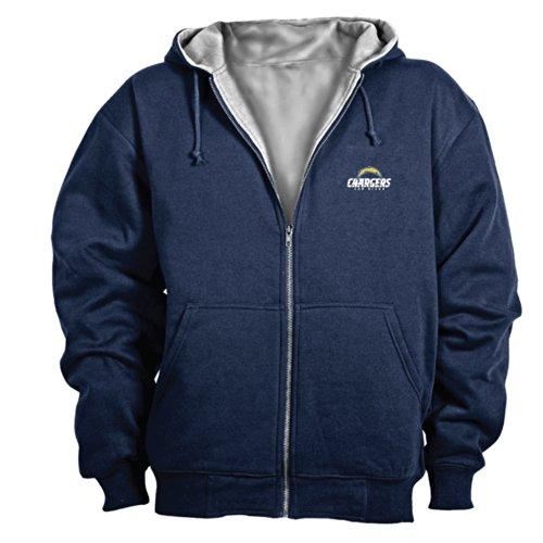 Dunbrooke NFL Craftsman Full Zip Thermal Hoodie, San Diego Chargers - Large