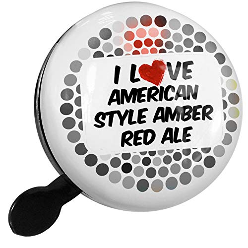- NEONBLOND Bike Bell I Love American Style Amber Red Ale Beer Scooter or Bicycle Horn