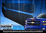 2014 billet grill chevy silverado - Black Stainless Steel eGrille Billet Grille Grill For 2014-2015 Chevy Silverado 1500 Regular Model