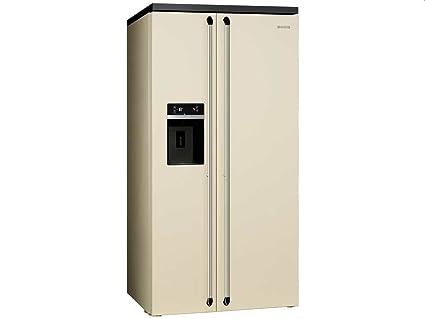 Smeg Kühlschrank Zweitürig : Smeg sbs963p side by side kühl gefrier kombination creme eek a