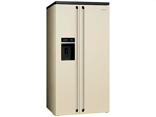 Smeg SBS963P Independiente 616L A+ Crema de color nevera puerta ...