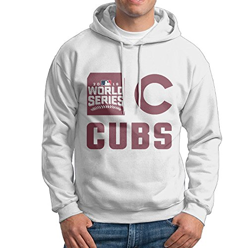 World Series Champions 2016 CHC Chicago Mans Athletic Cotton Hooded White