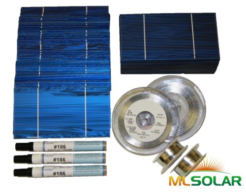 500 Prime Solar Cell DIY Kit with Solar Tabbing, Bus, and Flux Pen