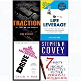img - for 7 Habits of highly effective people personal workbook, traction, drive, life leverage 4 books collection set book / textbook / text book