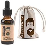Best Beard Oil, 100% Natural & Organic Reverend J Cedar Wood Citrus &...