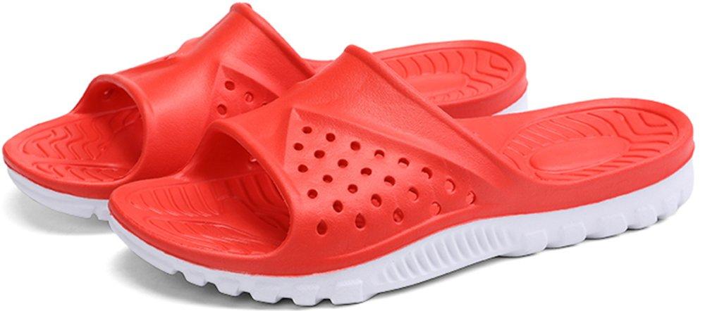 Phefee Mens Slide Sandals Anti-Slip Lightweight Bathroom Shower Slipper(Red40) by Phefee (Image #5)