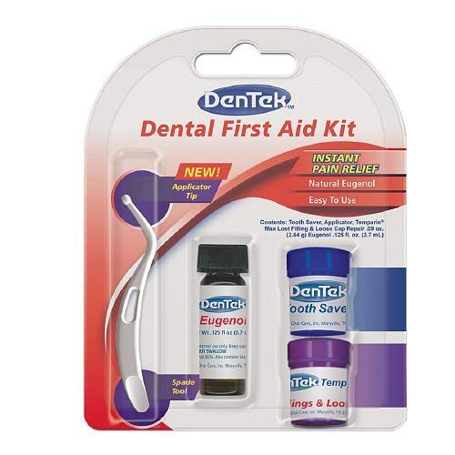 (DenTek Toothache Kit | Instant Pain Relief | Contains Applicator, Toothache Medication, Temporary Filler, and Tooth Saver Jar)